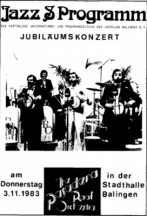 Concert announcement, 1983