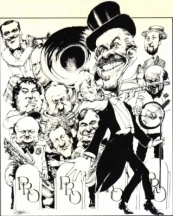 An orchestra caricature in the eighties.
